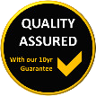 Quality assured with a 10 year guarantee